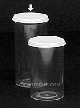 25 DRAM - Polystyrene container with white snap caps.55-125