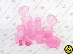 Pink AntiStatic Polypropylene Containers