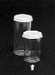 3.5 DRAM- Polystyrene vials with white snap cap.55-035
