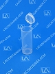 Polyvials EP2400-CLEAR Small Hinged-Lid Lab Vials 1000/Box