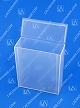 Flex-A-Top® FT104 Vertical Small Hinged-Lid Plastic Box (Autoclavable) 100/Box