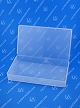Flex-A-Top®  FT-123 Horizontal Small Hinged-Lid Plastic Box (Autoclavable) 100/Box