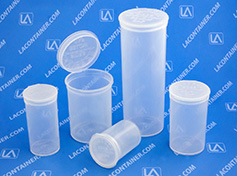 Squeezetops USA Made Child Resistant Plastic Pharmacy Vials
