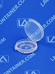 Lacons® 120300 Round Hinged-Lid Plastic Container 1,000/Box