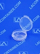 Lacons® 120450 Round Hinged-Lid Plastic Container 1,000/Box