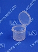 Lacons® 121075 Round Hinged-Lid Plastic Container 1,000/Box