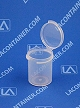 Lacons® 121500 Round Hinged-Lid Plastic Container 2,500/Box