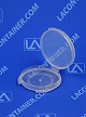 Lacons® 150300 Round Hinged-Lid Plastic Container 1,000/Box