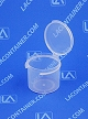 Lacons® 151350 Round Hinged-Lid Plastic Container 1,300/Box