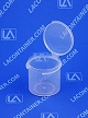 Lacons® 151500 Round Hinged-Lid Plastic Container 1,300/Box