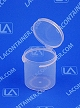 Lacons® 151650 Round Hinged-Lid Plastic Container 1,100/Box