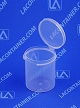 Lacons® 151900 Round Hinged-Lid Plastic Container 1,000/Box