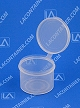 Lacons® 201575 Round Hinged-Lid Plastic Container 750/Box