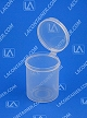 Lacons® 202450 Round Hinged-Lid Plastic Container 450/Box