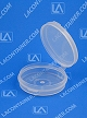 Lacons® 250675 Round Hinged-Lid Plastic Container 900/Box