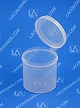 Lacons® 252500 Round Hinged-Lid Plastic Container 300/Box