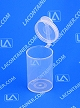 Polyvials EP193-CLEAR Small Hinged-Lid Lab Vials 500/Box