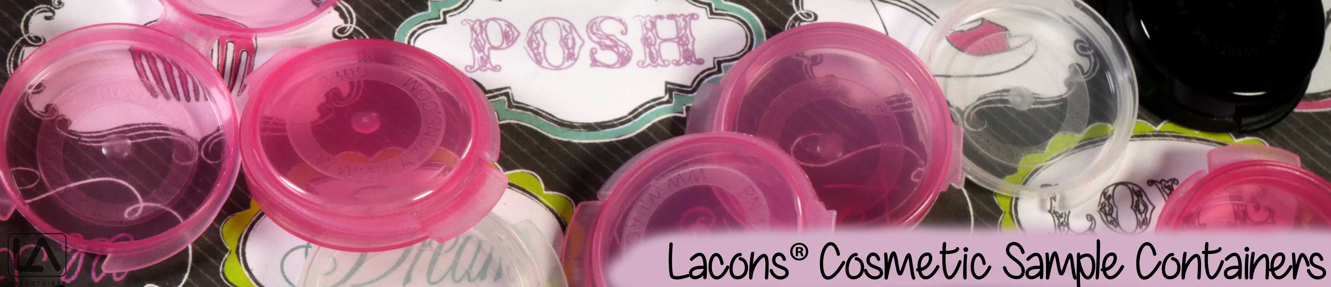 Lacons cosmetic beauty sample containers