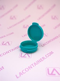 Lacons® 1/9oz Opaque Teal Cosmetic Sampling Container