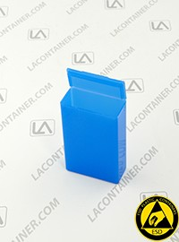 Flex-A-Top® FT9-BAS Vertical Small Hinged-Lid Plastic Box