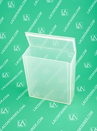 Flex-A-Top FT104 Small Hinged-Lid Plastic Box-GPP Gamma Sterilizable Small Plastic Boxes