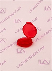 Lacons® Transparent Red Cosmetic Sampling Container