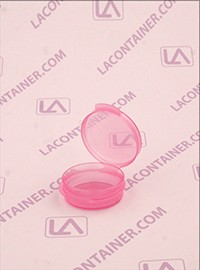 Lacons® 1/9oz Transparent Pink Cosmetic Sampling Containers