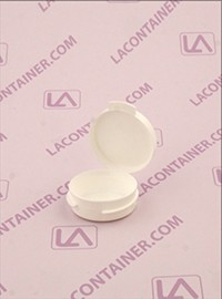 Lacons® 1/9oz Opaque White Cosmetic Sampling Container