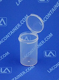 Lacons® 121900 Round Hinged-Lid Plastic Container