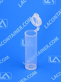 Polyvials EP290-CLEAR Small Hinged-Lid Lab Vials