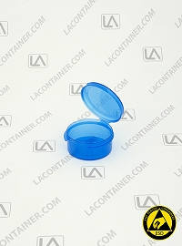 Lacons® 150750-BAS Blue Static Dissipative (ESD) Plastic Container