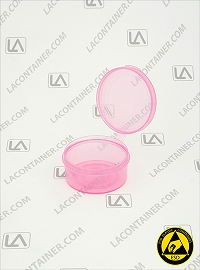 Lacons® 201000-ASP Anti Static Pink (ESD) Plastic Container