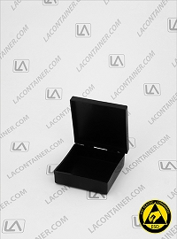 Laboxx 202005-CAS Black Conductive Antistatic ESD Plastic Box