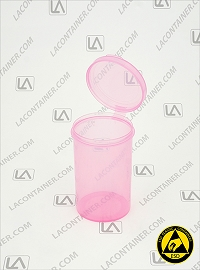 Lacons® 203150 Round Hinged-Lid ASP Plastic Container
