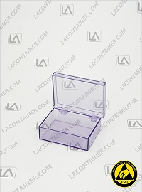 Laboxx 221606-BAS Blue Static Dissipative ESD Plastic Box