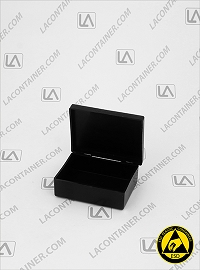Laboxx 221606-CAS Black Conductive Antistatic ESd Plastic Box