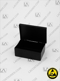 Laboxx 291910-CAS Black Conductive Antistatic ESD Plastic Box