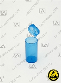 Polyvials EP192-BAS Blue Anti-Static Polypropylene Vial