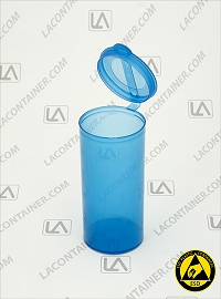 Polyvials EP2510-BAS Blue Anti-Static Polypropylene Container