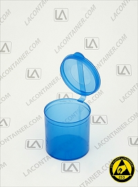 Polyvials EP2516-BAS Blue Anti-Static Polypropylene Vial