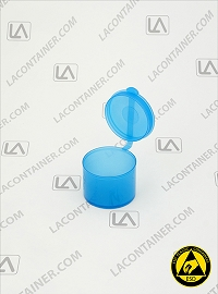 Polyvials EP965-BAS Blue Anti-Static Polypropylene Container