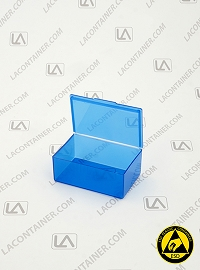 Flex-A-Top FT14 Small Blue Static Dissipative Hinged Lid Box