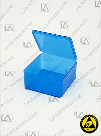 Flex-A-Top® FT33-BAS Horizontal Small Hinged-Lid Plastic Box