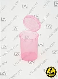 Squeezetops® PST30-ASP Anti Static Pink (ESD) Plastic Container