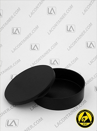 Statcons 4012-CAS Two Piece Black ESD Conductive Plastic Containers