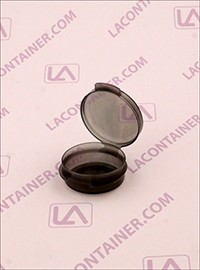 Lacons® Transparent Black 1/9oz Cosmetic Sampling Containers 100/Bag