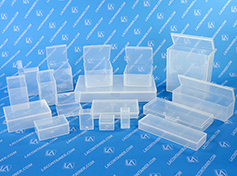 Flex-A-Top Square Plastic Box Containers With Attached Lid
