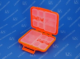 Meiho FB-470 Orange Water Proof Flip Folding Travel Case 180/Box
