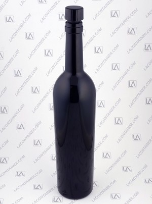 750ml Miron Violet Glass Wine Bottle With Lid 15/Box