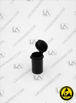 Lacons® 101250 Round Hinged-Lid Conductive (CAS) Vials